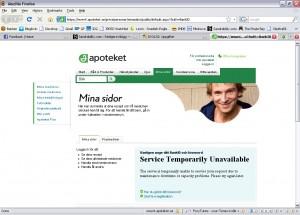 Skärmdump - Apoteket.se