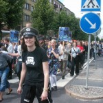 Demonstration mot FRA 2008 - Cool hatt