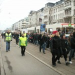 Demonstration mot övervakningssamhället 10