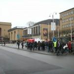 Demonstration mot övervakningssamhället 11