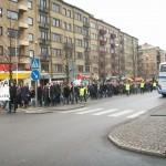 Demonstration mot övervakningssamhället 12