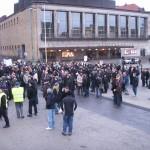 Demonstration mot övervakningssamhället 13