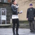 Demonstration mot övervakningssamhället 14