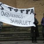 Demonstration mot övervakningssamhället 15