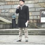 Demonstration mot övervakningssamhället 18