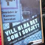 Demonstration mot övervakningssamhället 4