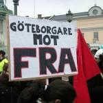 Demonstration mot övervakningssamhället 5