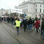 Demonstration mot övervakningssamhället 9