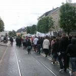 Demonstration mot FRA 2008 - Demonstrationståg 1