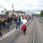 Demonstration mot FRA 2008 - Demonstrationståg 2