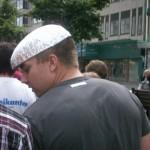 Demonstration mot FRA 2008 - Foliehatt