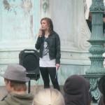 Demonstration mot FRA 2008 - Folkpartistisk talare