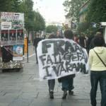 Demonstration mot FRA 2008 - Skynke tillägnat FRA
