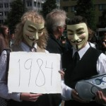 Demonstration mot FRA 2008 - Guy Fawkes