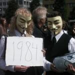 Demonstration mot FRA 2008 - Guy Fawkes