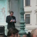Demonstration mot FRA 2008 - Konferencier