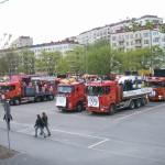 Chalmerskortegen 2008 - parkeringen