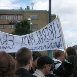 Demonstration mot FRA 2008 - Liberaler mot FRA