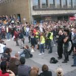 Demonstration mot FRA 2008 - Folksamling vid Götaplatsen