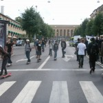 Demonstration mot FRA 2008 - Skatare