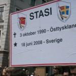 Demonstration mot FRA 2008 - STASI