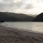 Strand i skymning