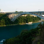 Niagara River med Rainbow Bridge