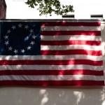 Den första amerikanska flaggan