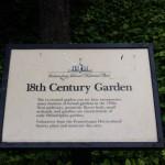 1700-talsträdgård skylt