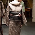 Ett av två besök på väveri: kimono