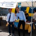 Representanter från svenska ambassaden