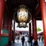 Lykta över ingången till Sensoji-templet