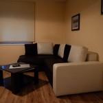 Vardagsrummet i lägenheten i Zadar