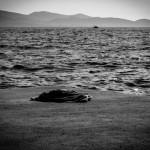 Övergivet bylte vid havet