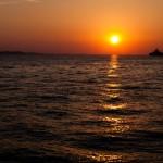 Solnedgång över Adriatiska havet från Zadar