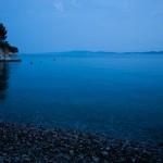Adriatiska havet i skymning