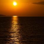 Solnedgång från Ugljan-färjan