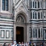 Porten till kupolen på il Duomo