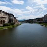 Fiume Arno från Ponte Vecchio