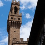 Tornet på Palazzo Vecchio i närbild