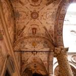 Målningarna i taket på Palazzo Vecchios sidoarkader