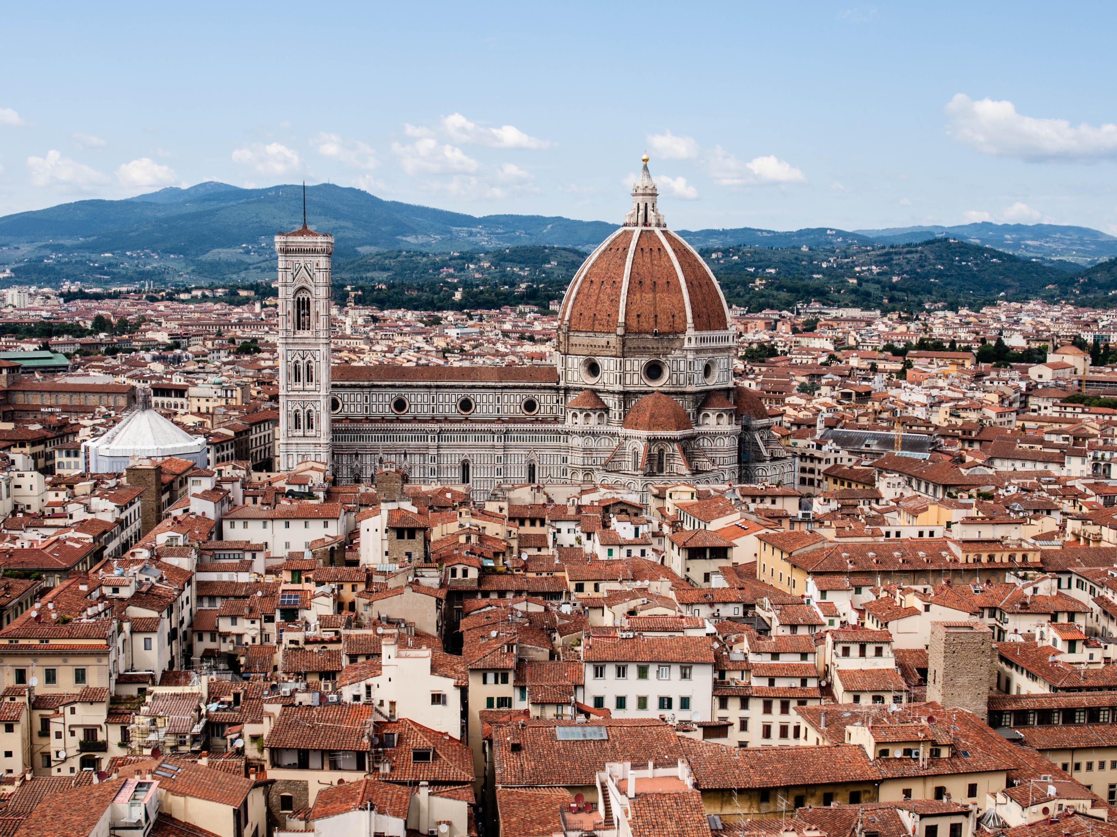 En liten del av Dante's Florens