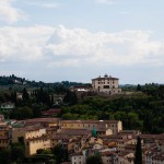 Utsikt söderut från Palazzo Vecchio